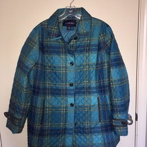 Lands End Plaid Quilted Insulated Jacket